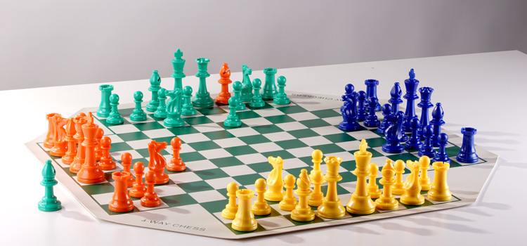 4 player chess wooden sets