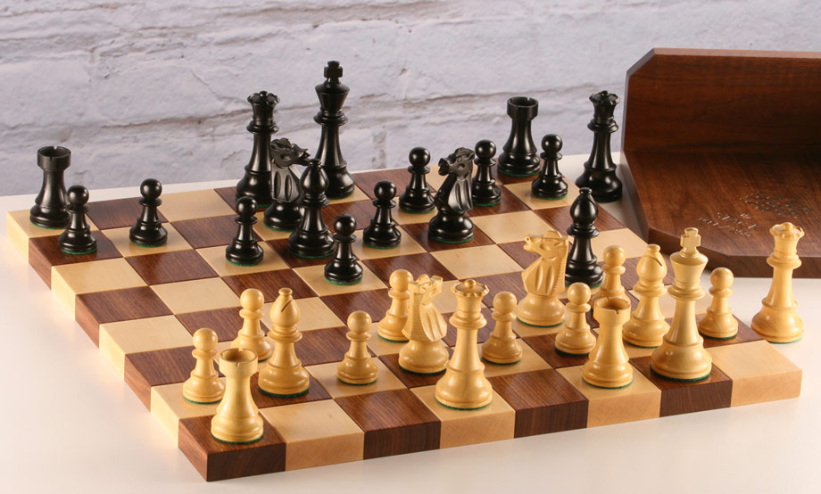 image of hardwood chess board with CP2775DQ