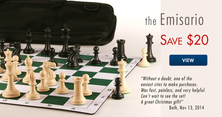 Save $20 on Emisario Deluxe Tournament Chess by ChessHouse.com
