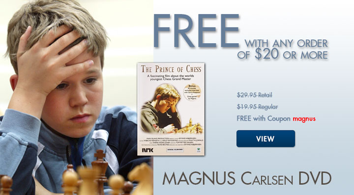 Free Magnus Carlsen Documentary DVD by ChessHouse.com